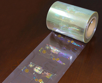 Golden Hologram Stickers Tamper Proved with Honeycomb
